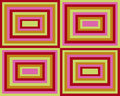 Retro symmetrical squares background Stock Images