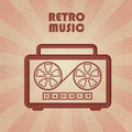Retro tape recorder abstract decorative Royalty Free Stock Image