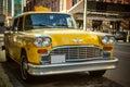 Retro Taxi Cab Royalty Free Stock Photo
