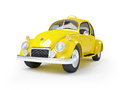 Retro taxi d cute fifties on white background Royalty Free Stock Photo
