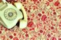 Image : Retro telephone booth telephone the