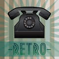 Retro telephone background with old fashioned and with inscription vector eps format is available Stock Image