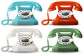 Retro telephones Royalty Free Stock Photo