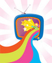 Retro television. Royalty Free Stock Images