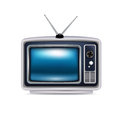 Retro television isolated on white background single Royalty Free Stock Image