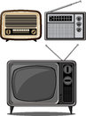 Retro Television and Radio Royalty Free Stock Photos
