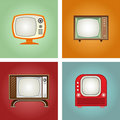 Retro televisions Royalty Free Stock Photos