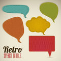 Retro text balloons illustration of style and color vector illustration Stock Photos