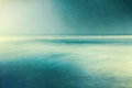 Retro textured seascape an abstract ocean with blurred panning motion image displays a vintage look with cross processed colors Royalty Free Stock Image