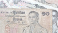 Retro thai banknotes Royalty Free Stock Photo