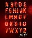 Retro theatre Lighting Letters