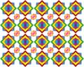 Retro Tiles Pattern Inspired  Islamic Geometric multi color. Art of paper folding, Origami. Modern floral texture of geometric Royalty Free Stock Photo