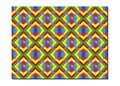 Retro Tiles Pattern Inspired  Islamic Geometry multi color. Art of paper folding, Origami. Modern floral texture of geometric Royalty Free Stock Photo