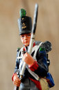 Retro tin soldier nineteen century figure Stock Images