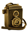 Retro TLR (Twin-lens reflex) photo camera Stock Photos