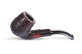 Retro tobacco pipe isolated on a white background Royalty Free Stock Photo
