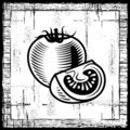 Retro tomato black and white Royalty Free Stock Photos