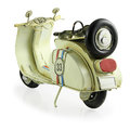 Retro toy motorcycle old isolated on white background with clipping path Stock Images