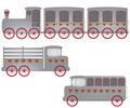 Retro train, truck and bus illustration Stock Image