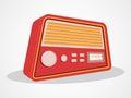 Retro transistor design radio isolated on shiny white background Royalty Free Stock Images