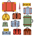 Retro travel bags Stock Photos