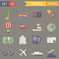 Retro Travel Rest Symbols Tourist Accessories Royalty Free Stock Photo