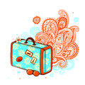 Retro travel suitcase Royalty Free Stock Photo