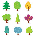 Retro tree designs Royalty Free Stock Photo