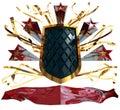Retro triumph and power emblem Stock Image