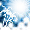 Retro tropical background Royalty Free Stock Photography