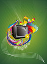 Retro tv  abstract color illustration Stock Image