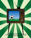 Retro TV football Royalty Free Stock Image