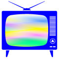 Retro tv icon for various design Royalty Free Stock Photos