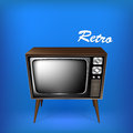 Retro tv illustrazione di vettore Fotografie Stock