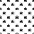 Retro TV pattern, simple style