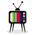 Retro TV set  icon. Royalty Free Stock Photo