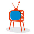 Retro TV set. Royalty Free Stock Photo