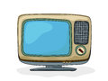 Retro tv style drawing over white background Royalty Free Stock Photos