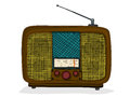 Retro tv style drawing over white background Royalty Free Stock Photography