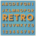 Retro type font vintage typography illustratiom eps Royalty Free Stock Photos