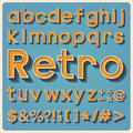Retro type font vintage typography illustratiom eps Stock Photo