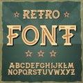 Retro type font, vintage typography ,Illustratiom EPS10. alphabet vector for labels, titles, posters etc.