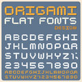 Retro type font vintage typography origami flat illustratiom eps Royalty Free Stock Images