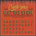Retro type font vintage typography vector eps illustration Royalty Free Stock Photos