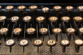 Retro typewriter keyboard Royalty Free Stock Photos