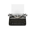 Retro typewriter with paper sheet Royalty Free Stock Photo