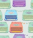 Retro typewriter seamless background Royalty Free Stock Images