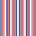 Retro usa Color style seamless stripes pattern. Abstract vector Royalty Free Stock Photo