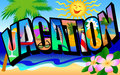 Retro Vacation Postcard Royalty Free Stock Photo