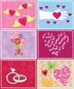 Retro valentine elements Immagini Stock Libere da Diritti